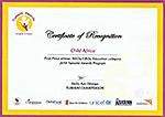 Tumanini award certificate
