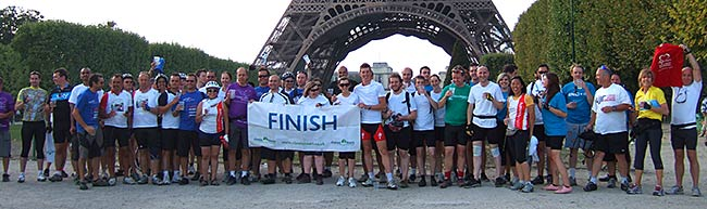 London to Paris - Finish