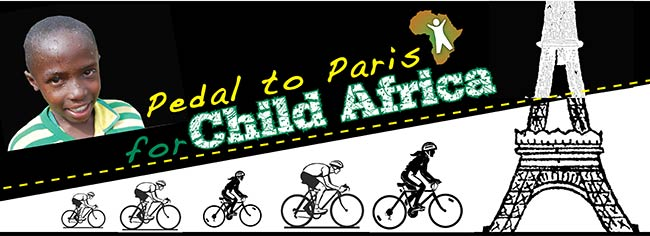 Pedal to Paris for Child Africa